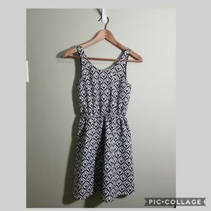 Divided black and white summer tank dress size 4